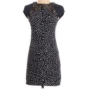 French connection embellished studded beaded dress